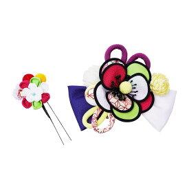 生活 雑貨 通販 レトロポップな和風髪飾り (コーム・Uピン) 224-022 シロ