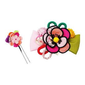 生活 雑貨 通販 レトロポップな和風髪飾り (コーム・Uピン) 224-022 サーモン