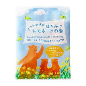 おやすみ前にそっとページをめくりたくなる、絵本のようなバスバッグ。はちみつレモネードの香り、クリアイエローの湯色。 生産国:日本 成分:海塩、レモン果皮、レモン果皮油、ハチミツ