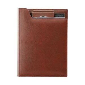 再生皮革クリップファイル A5 ブラウン ZVF605C人気 商品 送料無料 父の日 日用雑貨