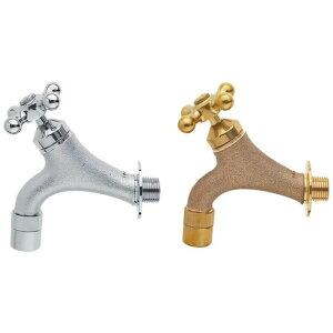 ガーデン水栓 クロスハンドル ガーデニング/庭/水まわり ゴールド・Y1810YB-13 人気 商品 送料無料