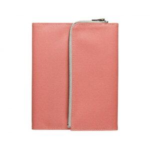 isshoni. ペンケース付ノートカバー B6サイズ対応 SALMON PINK N1852 お得 な全国一律 送料無料 日用品 便利 ユニーク