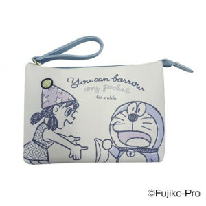 I'm Doraemon ドラえもん ワンポイント刺繍Wポーチ A(帽子 ゴールド刺繍) DRA11-A 人気 商品 送料無料 父の日 日用雑貨
