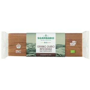 スガンバロ オーガニックスパゲッティ(全粒粉) 500g 16セット 092014 人気 商品 送料無料