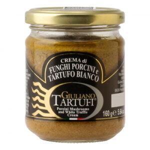 お取り寄せグルメ 食べ物 ジュリアーノ・タルトゥーフィ ポルチーニクリーム 白トリュフ入り 160g 12本セット 2052 お得 な全国一律 送料無料