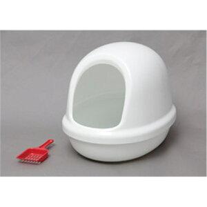 トイレ用品 cat toilet ペット用品 ネコのトイレ フルカバー カラー:しろ