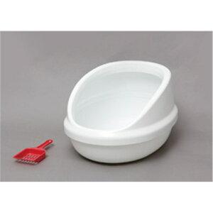 Toilet 猫トイレ ペット用品 ネコのトイレ ハーフカバー カラー:しろ