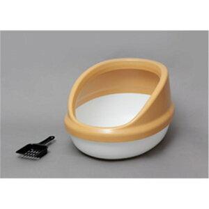 Toilet ネコ用トイレ スコップ付き ネコのトイレ ハーフカバー カラー:三毛