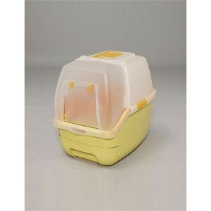 トイレ 猫用トイレ フィトンチッド 楽ちん猫トイレ フード付きセット カラー:オレンジ