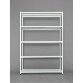 ラック 棚 スチールラック 収納家具 カラーパンチングラック 棚板5枚タイプ 1218 ホワイト