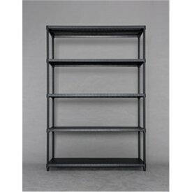 オープンラック ディスプレーラック 収納家具 カラーパンチングラック 棚板5枚タイプ 1218 ブラック