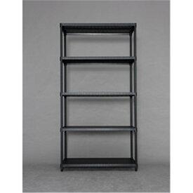 ラック 棚 メタルラック 家具 カラーパンチングラック 棚板5枚タイプ 9018 ブラック