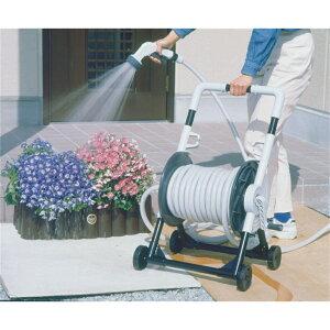 散水ホース 散水用具 持ち運びに便利 キャリングホースリール 50m