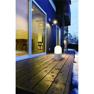 ガーデンセンサーライト 乾電池式 置くだけ設置 屋外センサーライト スタンドタイプ 丸型 電球色