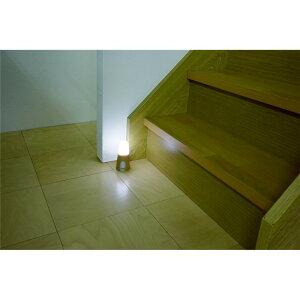 人感センサー ライト 屋内 玄関・廊下・ベッドサイドに 乾電池式LED屋内センサーライト ベージュ 昼白色