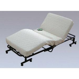 リクライニングベッド 高級感を醸し出す、ジャガード 織生地 おしゃれ 折りたたみコイル電動ベッド