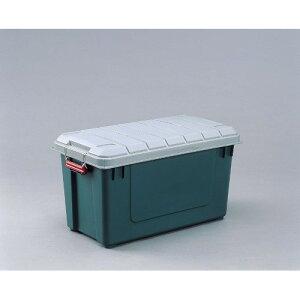 コンテナボックス 車のラゲッジスペース、での収納に最適 おすすめ 密閉RVBOX グレー/ダークグリーン 4点セット