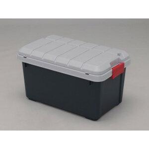 収納ボックス レジャー用品等の収納に おすすめ RVBOX収納フタ付 グレー/ダークグリーン 6点セット