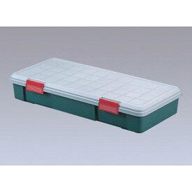 コンテナ収納ボックス ハッチバック車や、軽自動車、のラゲッジスペースで カー用品 RVBOX グレー/ダークグリーン  4点セット
