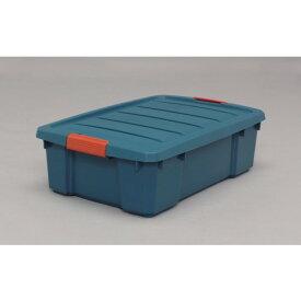 工具 資材 省スペースで、収納 頑丈 バックルBOX グリーン/オレンジ 8点セット