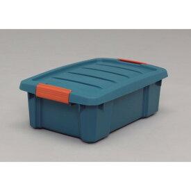 収納ボックス 重ねて収納 頑丈 バックルBOX グリーン/オレンジ 10点セット