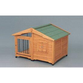 ハウス ゲージ 犬 犬舎とサークルを合わせた造り!ブラウン