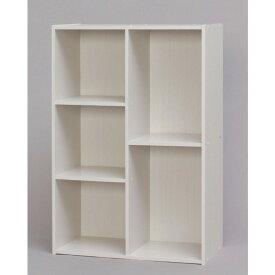 オープンラック 多使用可能な、2列タイプのCBボックス!! 収納 本棚 書棚 オープンシェルフ 多目的棚 おしゃれ リビング収納 オフホワイト