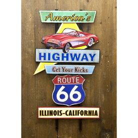 plate デコレーション 看板 アメリカンスタイルウォールデコ America's Highway