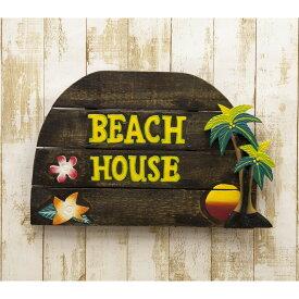 プレート ウェルカムボード トロピカルテイスト ビーチウォールサイン BEACH HOUSE