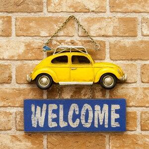 インテリア ドアプレート 壁面装飾 ヴィンテージカー OPEN & CLOSED (YE Car)