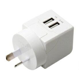 スマートフォン関連 海外旅行用USB充電器 2.4A Oタイプ MBP-TO