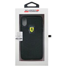 Ferrari 公式ライセンス品 iPhoneX専用 ナイロンハードケース FERRARI SF HYRBID CASE IPHONE X RACING TYRES DAPHNE BLACK FESCODHCPXBK