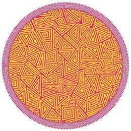 寝具 関連商品 丸眞 「トライアングルサイン」Triangle Sign ラウンドビーチタオル 365073100