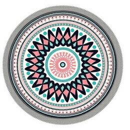 寝具 関連商品 丸眞 「センタリングパターン」Centering Pattern ラウンドビーチタオル 355049600