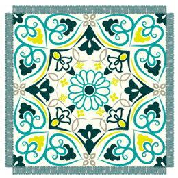 寝具 関連商品 丸眞 「スクエアグリーン」Square Green 正方形ビーチタオル 355048400