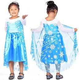 お役立ちグッズ アナと雪の女王 Frozen エルサ Elsa 女王 風 ドレス 140cm FJK9354728042s14