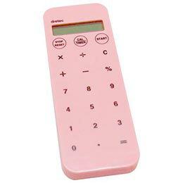便利雑貨 電卓・ライト付バイブタイマー「ディスティックプラス」 ピンク CL-122PK