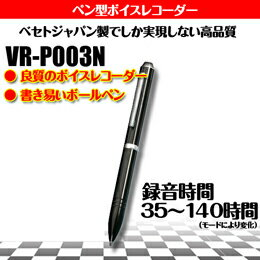 TV・オーディオ・カメラ 関連商品 ベセトジャパン リモコン付ペン型ICレコーダー140時間タイプ VR-P003N(1GB)