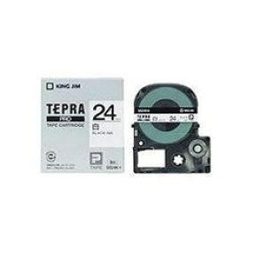 テプラ 白ラベルテープ (白テープ/黒文字/24mm幅) SS24Kおすすめ 送料無料 誕生日 便利雑貨 日用品