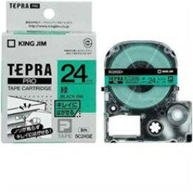便利雑貨 テプラ きれいにはがせるラベルテープ (緑テープ/黒文字/24mm幅) SC24GE
