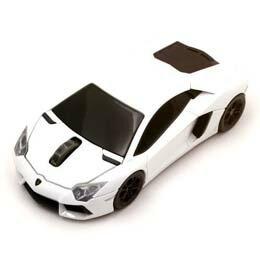 マウス ランボルギーニ LP700 2.4G無線マウス 1750dpi ホワイト LB-LP700-4-WH