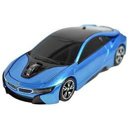 マウス BMW i8シリーズ 無線カーマウス 2.4Ghz 1750dpi ブルー BM-Pi8-BL