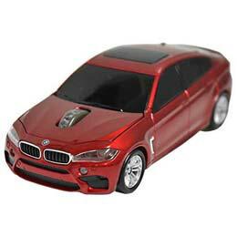マウス BMW X6シリーズ 無線カーマウス 2.4Ghz 1750dpi レッド BM-X6M-RE