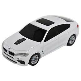 マウス BMW X6シリーズ 無線カーマウス 2.4Ghz 1750dpi ホワイト BM-X6M-WH
