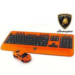 キーボード ランボルギーニ LP700 2.4G無線マウス+キーボード (オレンジ) LB-LP700KM-OR