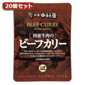 食品関連 国産牛肉のビーフカリー20個セット AZB5567X20