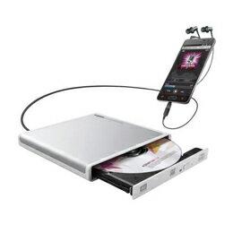 生活関連グッズ Android用CD録音ドライブ/USB2.0/Type-C変換アダプタ付属/ホワイト LDR-PMJ8U2RWH
