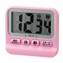 便利雑貨 防滴デジタルタイマー ピンク T41PK