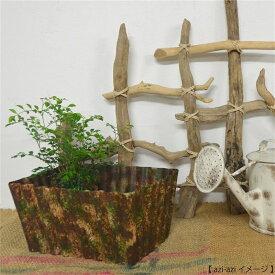 植木鉢 ガーデニンググッズ ラフなペイント メタルプランター/4角