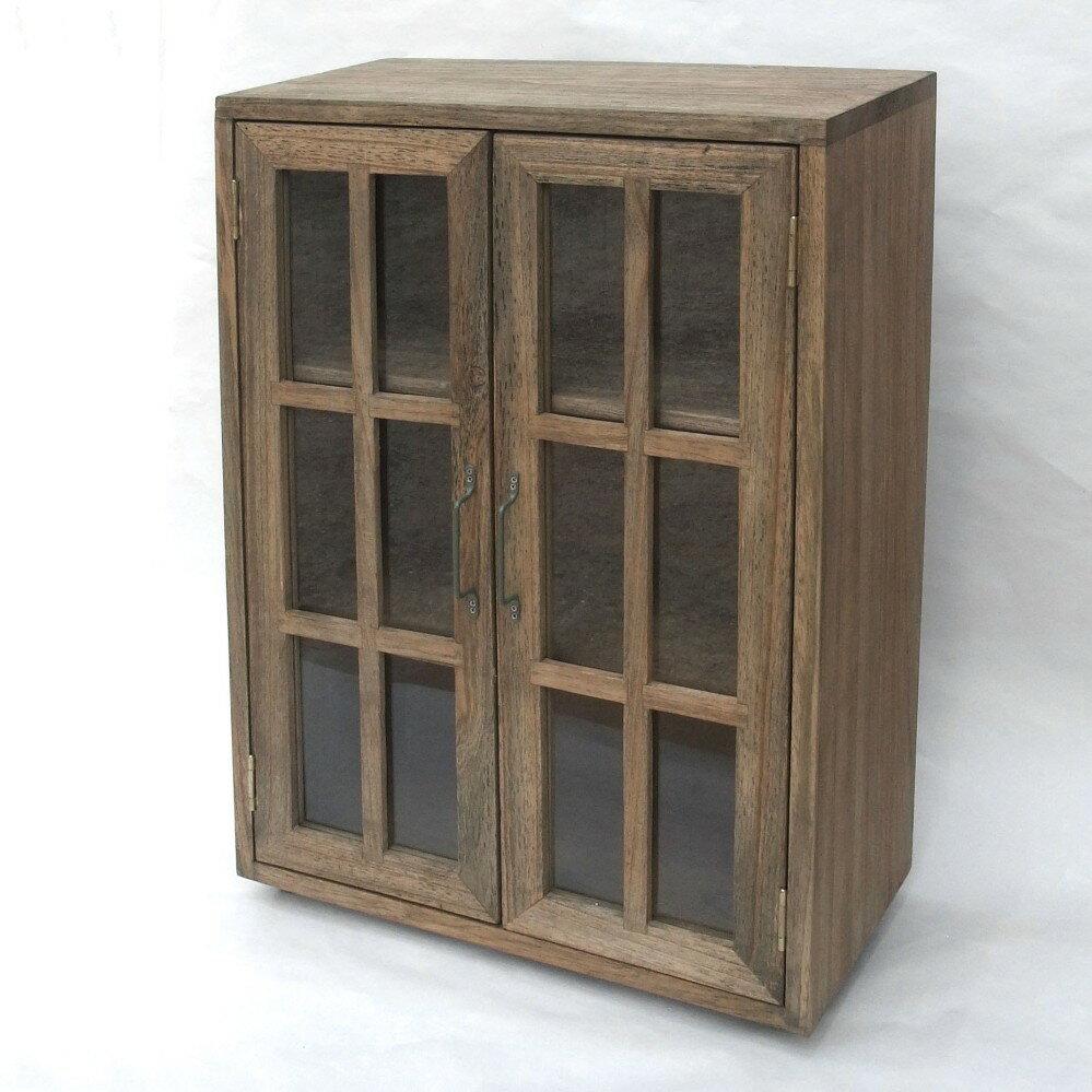 3段ガラスキャビネット ( 全2色 )単品販売 ブラウン